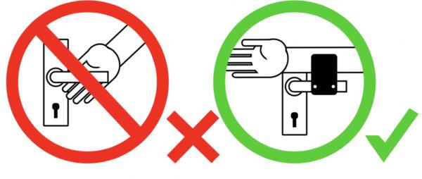 Hygienisches Türöffnen Anleitung
